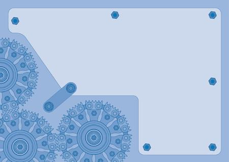 grind: Blue gearwheel background