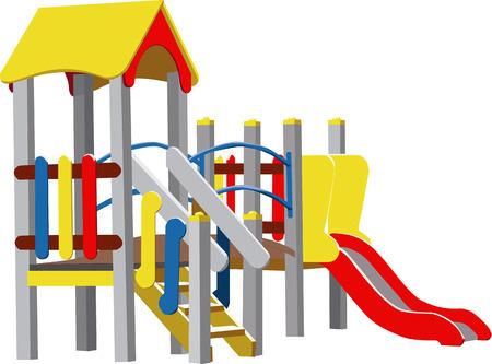 ni�os en recreo: Color vector parque infantil  Vectores