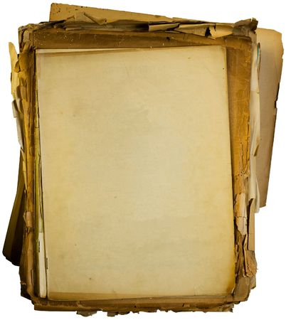 Stack of old blank papers  photo