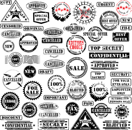 Collection of grunge rubber stamps. See other rubber stamp collections in my portfolio. Stock Vector - 3984283