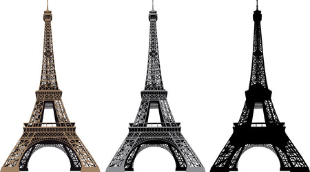 Vector illustration of Eiffel Tower in Paris, France Vector