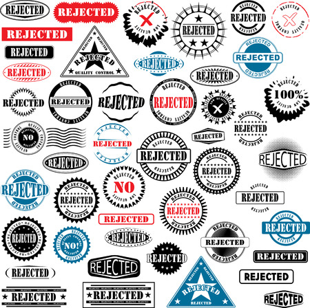 canceled: Collection of rubber stamps with text rejected. See other rubber stamp collections in my portfolio.