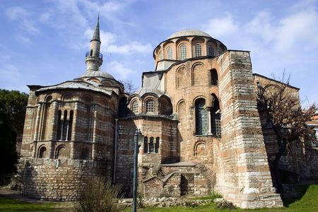 constantinople ancient: Exterior view of Chora church or Kariye Camii in Istanbul Stock Photo