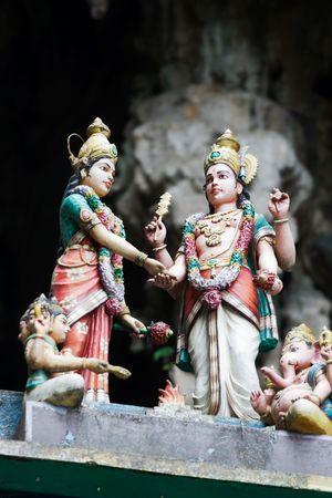 Detail of Hindu Temple in Batu Caves located near Kuala Lumpur, Malaysia photo
