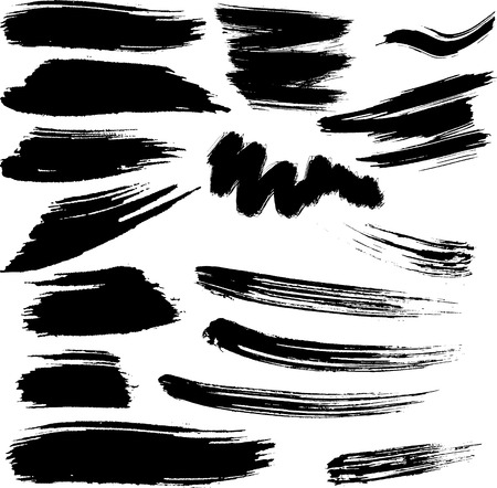 Collection of design elements. Grunge vector brush strokes Vector