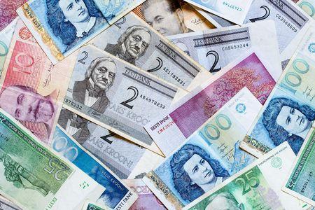 estonian: Background made from Estonian money bank notes
