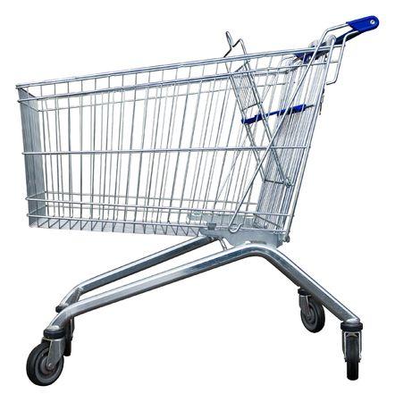 shopping buggy: Empty shopping trolley