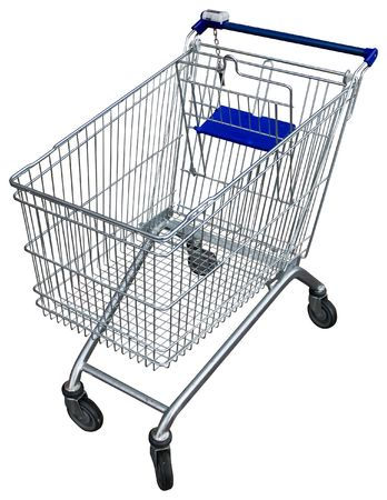 shopping carriage: Empty shopping trolley