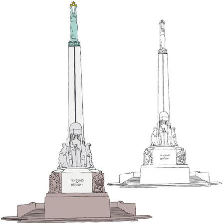 illustration du monument de la liberté à Riga