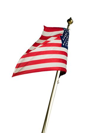 American flag flying in the wind. Stock Photo - 6552477