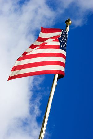 American flag flying in the wind Stock Photo - 6552479