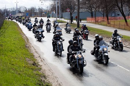 parade: RIGA - April 24: Motorcycle Season opening parade with thousands of participants. April 24, 2010, Riga, Latvia. Editorial