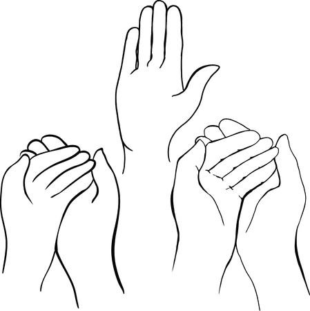 tekening van handen iets te houden