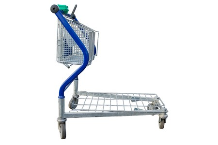 Empty shopping cart in a store parking lot  Stock Photo - 7075345