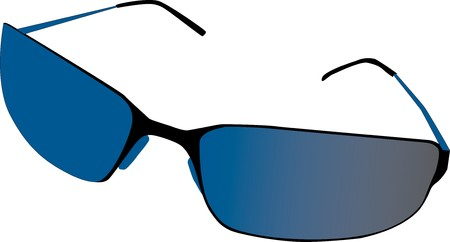 sunglasses with blue lenses Stock Vector - 7395554