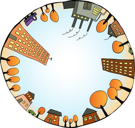 Global world as closed ecological system.  illustration Illustration