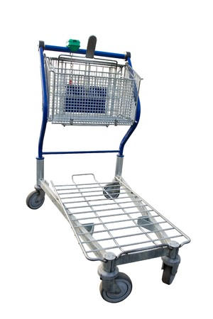 Empty shopping cart in a store parking lot  Stock Photo - 7820214