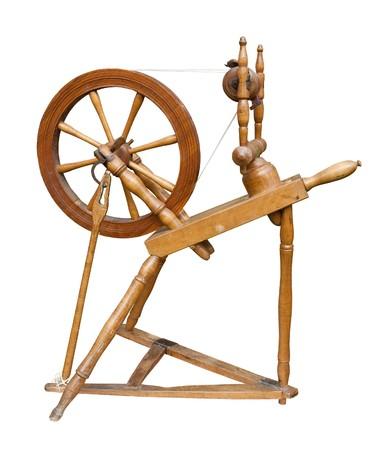 Oude spinne wiel
