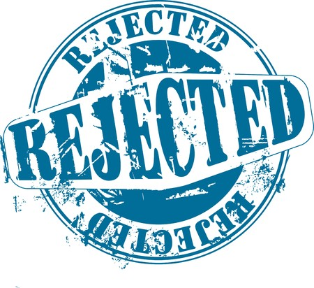 rejected: Grunge rubber stamp with word rejected. See other rubber stamps in my portfolio.