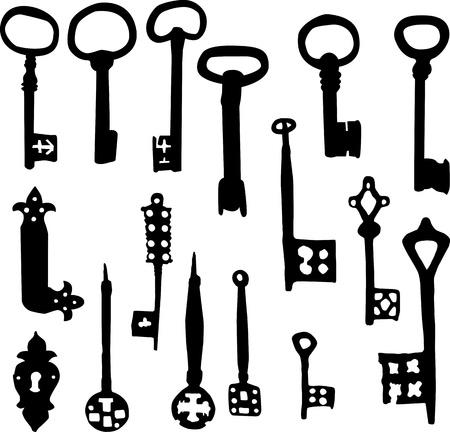 skeleton key: Set of old fashioned skeleton key