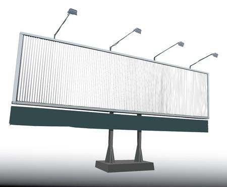 Vector illustration of Rotating Billboard