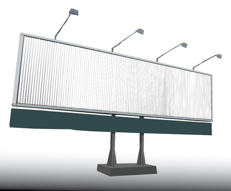 advertisment: Vector illustration of Rotating Billboard
