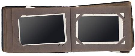 Vintage photo album isolated on white background photo