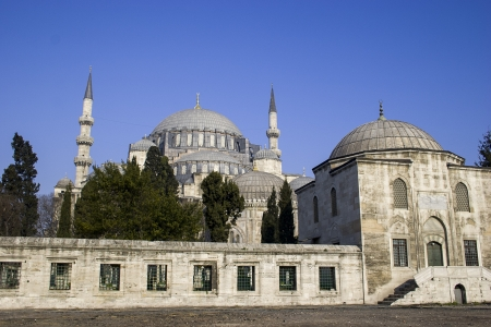 Suleymaniye Mosque in Istanbul, Turkey   It is the second largest mosque in the city  photo