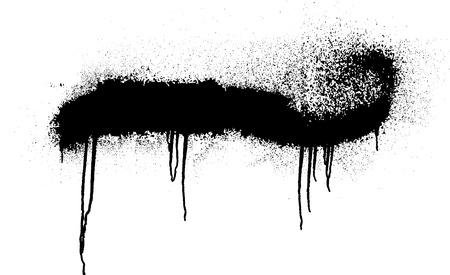 Marco negro de la pintura de aerosol de la pintada para el texto