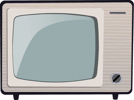 cathode: Old Russian black and white TV set Illustration