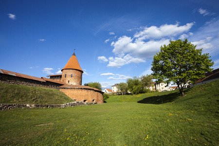 reconstructed: Reconstructed part of Kaunas Castle, Lithuania
