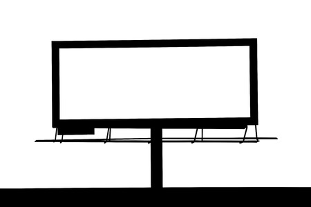 blank billboard: Blank Large billboard silhouette for your advertisement