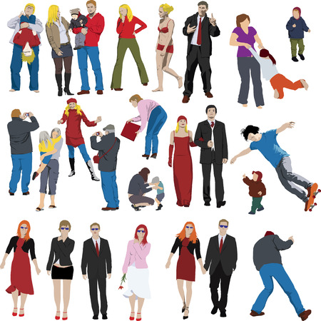Set of vector people illustrations Vector