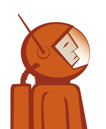 pioneer: Vector illustration de l'astronaute h�ro�que combinaison spatiale rouge. EPS10 fichier.