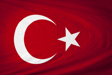 turkish flag: Close up of Turkey flag