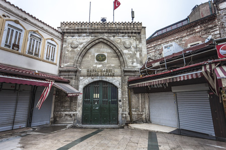 kapalicarsi: ISTANBUL, TURKEY - MARCH 20, 2011: Closed entrance gate 7 of Grand Bazaar one of largest and oldest covered markets in the world.