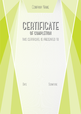completion: Vertical Modern Certificate of completion.