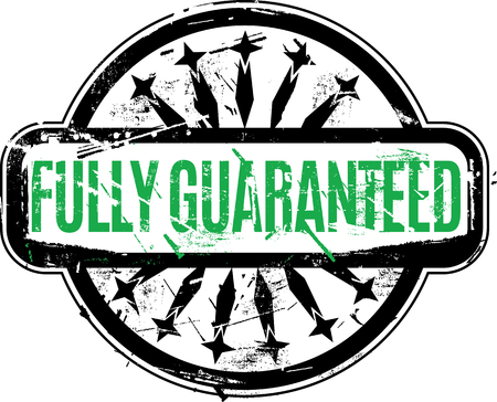 fully: Fully Guaranteed Rubber stamp with grunge texture for your design. Illustration