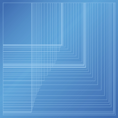 grid paper: Blueprint Background with abstract random rectangle grid on blue paper