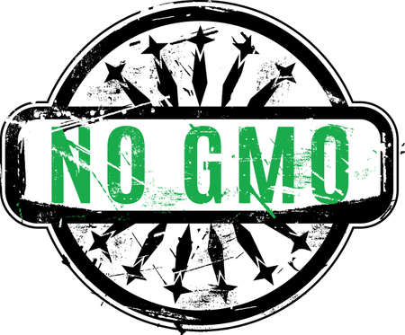 genetically modified organism: No GMO or Genetically modified organism Rubber stamp with grunge texture for your design. See other rubber stamps in my portfolio.