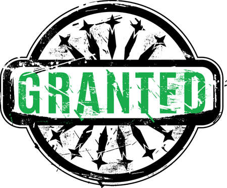 granted: Granted Rubber stamp with grunge texture for your design. See other rubber stamps in my portfolio.