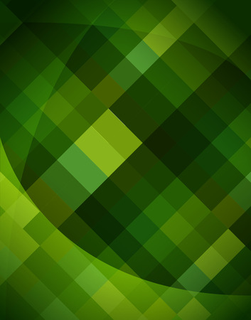 yellow green: Abstract triangle and rectangle shape light to dark green color mosaic background. Illustration