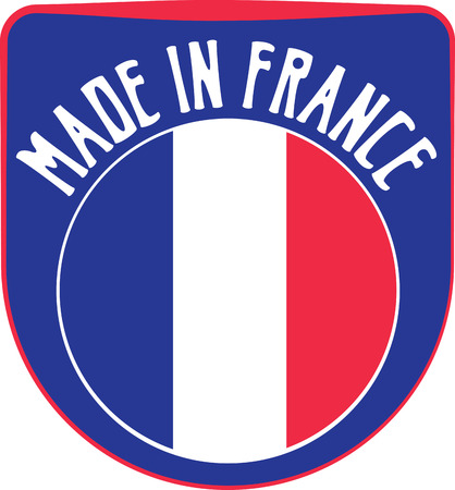 made manufacture manufactured: Made in France badge sign. Vector illustration
