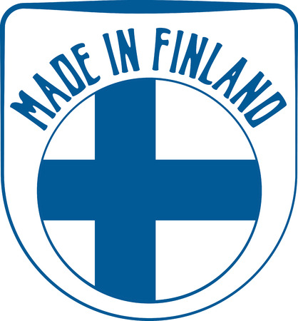 sign in: Made in Finland badge sign. Vector illustration