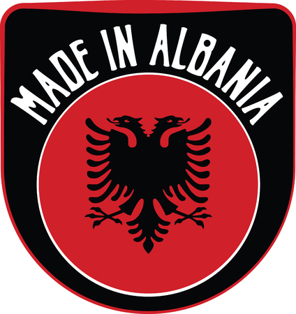 sign in: Made in Albania badge sign. Vector illustration