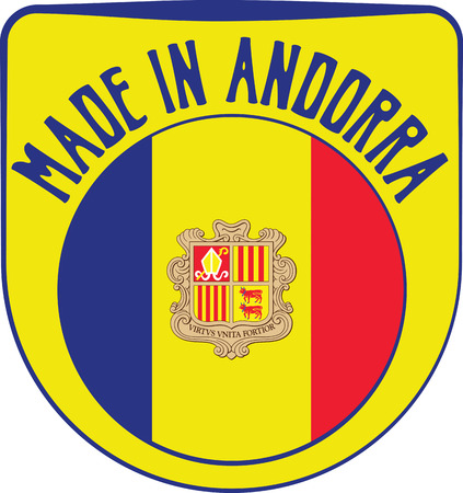 sign in: Made in Andorra badge sign. Vector illustration