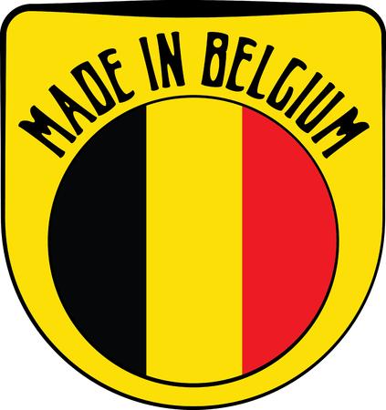 sign in: Made in Belgium badge sign. Vector illustration Illustration