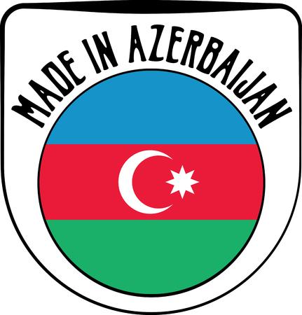 azerbaijanian: Made in Azerbaijan badge sign. Vector illustration
