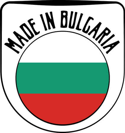 sign in: Made in Bulgaria badge sign. Vector illustration