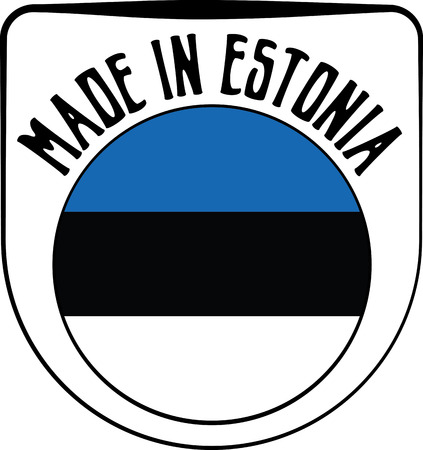 sign in: Made in Estonia badge sign. Vector illustration